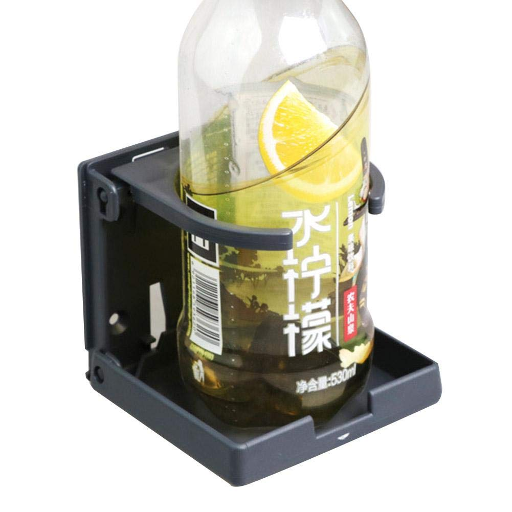 Mona43Henry Portavasos Plegable para Coche Recipientes Plegables Ajustables Universales para Bebidas Coche Truck Boat Van Home Plastic Negro