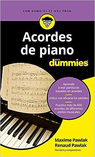 Acordes de piano para Dummies: Amazon.es: Maxime Pawlak, Renaud Pawlak, Pilar Recuero Gil: Libros