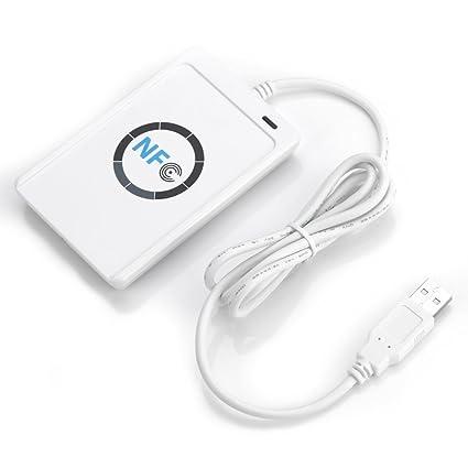 TOPINCN Lector de Tarjetas ID RFID Tarjeta NFC ACR122U ...