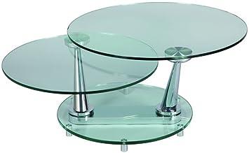 Pegane Table Basse En Verre Ronde D83 X H42 Amazon Fr
