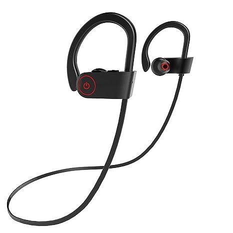 Conpush Auriculares Bluetooth Inalámbrico En el oido Auricular con micrófono para Gimnasio Corriendo Deportes (Rojo