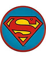 "Superman ""S"" Logo Emblem on Blue Button / Pin"