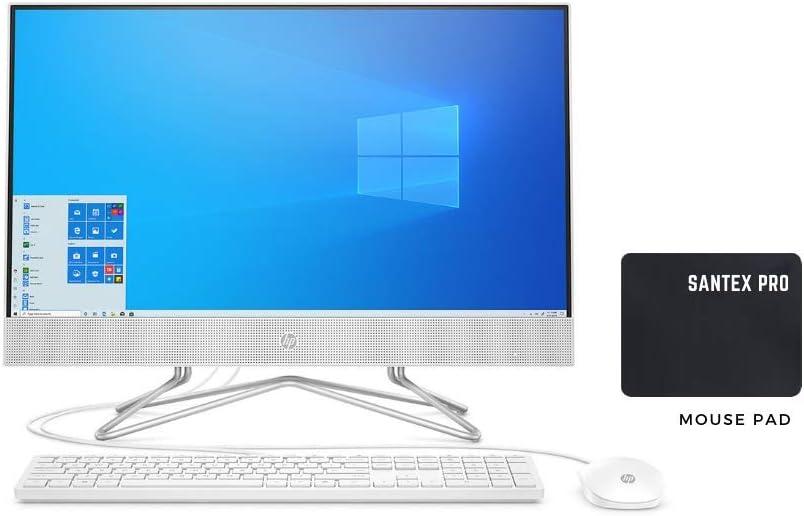 "New_HP_23.8"" Touchscreen IPS FHD WLED Backlit All-in-One Desktop, AMD Ryzen 3 3250U, 8GB DDR4, 1TB 7200RPM HDD + 256GB PCIe NVMe SSD, Optical Drives, WiFi, Bluetooth, Camera, Windows 10 w/Santex MP"
