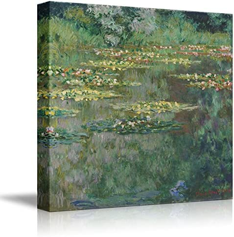Water Lily Pond by Claude Monet Print Famous Painting Reproduction