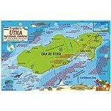 Utila Honduras Dive Map & Reef Creatures Guide Franko Maps Laminated Fish Card