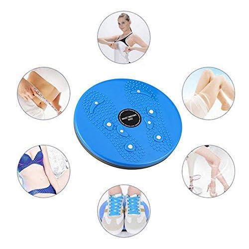 Itian Twist Waist Torsion Disc Board Aérobic Exercice Fitness Reflexology Magnets Balance Board, bleu