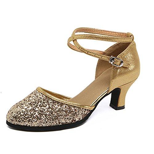 Danse Womens Latine Danse Chaussures Moderne Carré Amitié De De Talons De Danse Paillettes Sandale WYMNAME Chaussures Chaussures 1 Moyens BxSqpwFwnf