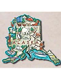 Take Alaska the Last Frontier State Artwood Jumbo Fridge Magnet wholesale