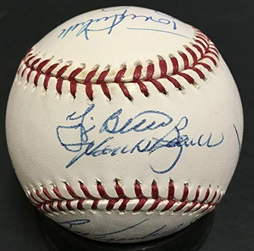 Yogi Berra Don Larsen Autographed Signed Memorabilia Yankees Legends Baseball 13 Auto Don Zimmer Cbm Coa - Certified - Memorabilia Yogi Berra