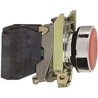 Schneider Electric XB4BA31 - Pulsador, retorno resorte nivelado