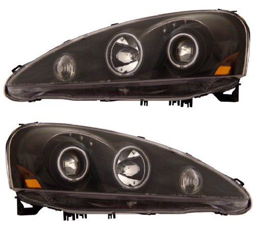 ACURA RSX 05-06 PROJECTOR HEADLIGHT HALO BLACK CLEAR AMBER(CCFL) ()