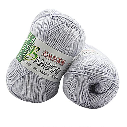Haluoo Super Soft Big Ball Yarn Cotton Wool Knit Blanket Yarn Handmade Winter Knitted Hat Scarf Socks Gloves (Gray)