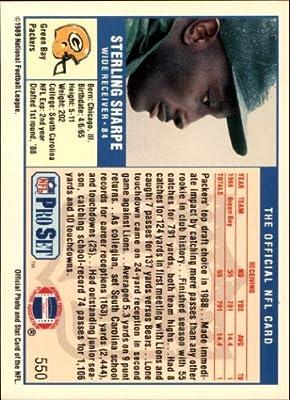 1989 Pro Set Football Rookie Card #550 Sterling Sharpe Mint
