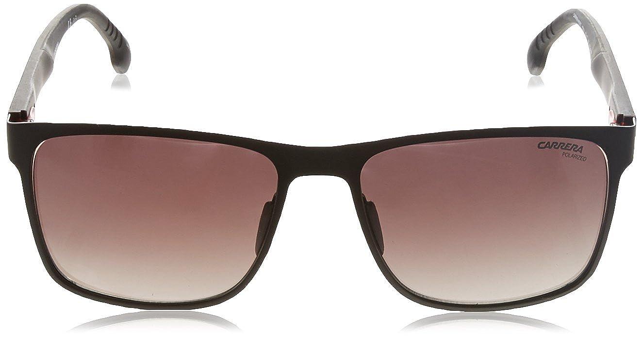 e718eb09234 Amazon.com  Carrera Men s 8026 s Polarized Square Sunglasses Matte Brown 57  mm  Clothing