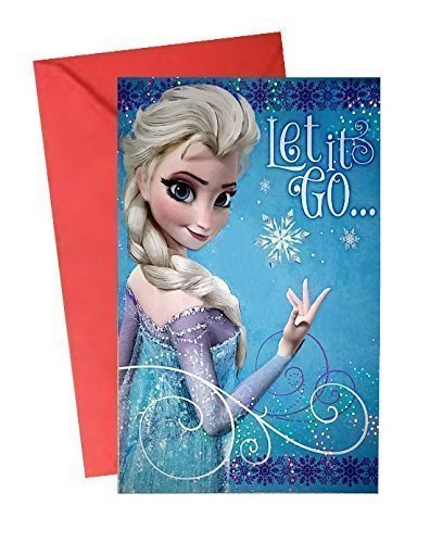 Frozen Elsa Let It Go Birthday Card Amazon Toys Games