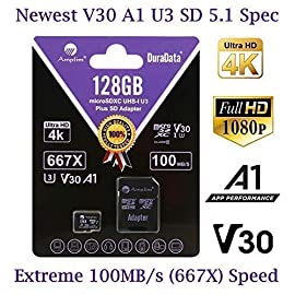 64GB 128GB 32GB Micro SD Card Plus Adapter Pack. Amplim MicroSD SDXC Class 10 U3 A1 V30 Extreme Pro Speed 100MB/s UHS-I UHS-1 TF MicroSDXC Memory Card for Cell Phone, Nintendo, Galaxy, Fire, Gopro 2 COMPATIBILE with all new 2016-2018 class10 high capacity micro SDXC or SD (Secure Digital) compatible phones such as Samsung Galaxy S9 S8 S7 Note 9 Note 8 Note 7, Sony Xperia, LG G7 V40, Nokia, Motorola Moto, USB readers, Nintendo Switch, Amazon Kindle Fire, Gopro, Microsoft Surface, PC, Mac, portable computers, drones, action cameras. COMPATIBILITY: Samsung Galaxy J8 J6 A9 A6 A6+ J7 Star Prime 2 S9 S9+ J2 Note 9 8 Tab S4 S3 J3 Book S8+ Plus S8 Active J7 V S7 Edge S7 Tab E Tab A (2018) S6; LG K30 G7 Q7 Q Stylus V40 V35 THINQ Zone 4 V30S K10 V30 V20 G6 K20 V Stylo 2 V Stylo 4 3 X Venture Charge Power G Pad F2 8.0 Pad X II; Sony Xperia XZ2 Premium Compact L2 XA2 Ultra Plus XZ1 L1 XZ; Nokia 7.1; Amazon Fire 7 Fire HD 8 Fire HD 10 and Kids edition. COMPATIBILITY Continued: Microsoft Surface 2 3 4 Pro LTE Surface Book Studio; Motorola Moto G6 G5 E5 E4 Play Plus X4 G5S Z2 Force Edition; HTC U12+ Desire 12 12+ U11 EYEs life U11+ Desire 555 One X10 Bolt; Huawei Y7 Prime Y6 Y3 Mate RS P20 10 Pro Lite MediaPad M5 M3 8 10 P Smart P9 lite MateBook Nova 2. Work with Verizon, AT&T, Sprint, T-Mobile, US Cellular, Unlocked and other carriers. Amazon Prime fast free shipping.