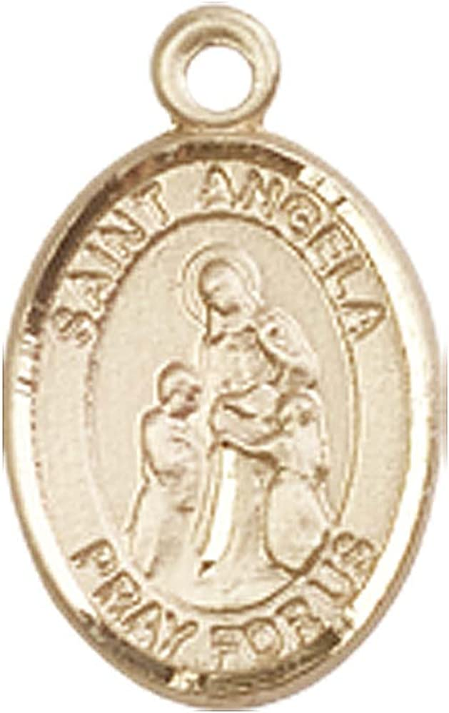 Patron Saint of Handicapped People F A Dumont 14kt Gold St Angela Merici Medal