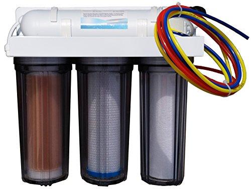 Abundant Flow Water ARO-Omega 4-Stage RO/DI System Reef Aquarium Water Filter, 100 GPD Reverse Osmosis ()
