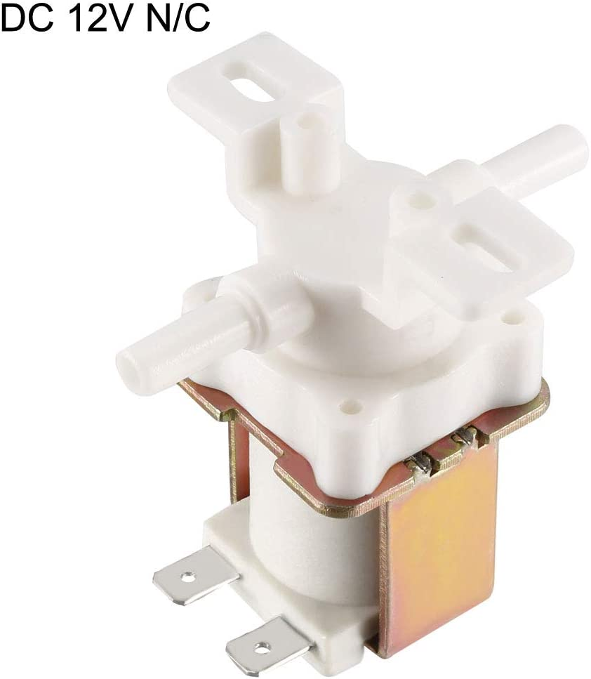 sourcing map Wassermagnetventil normalerweise geschlossen DC 12V NC 6 mm x 18 mm