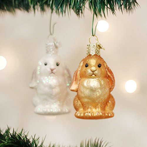 Old World Christmas Ornaments: Baby Bunny Glass Blown Ornaments for Christmas Tree