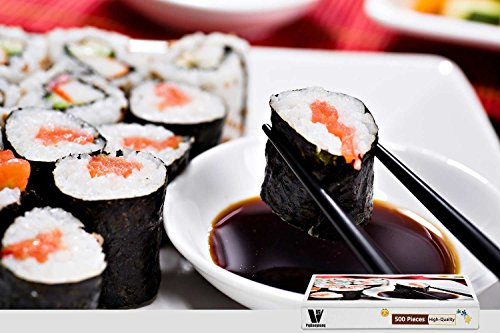 Asian Precision Sushi - PigBangbang,20.6 X 15.1 Inch,Hard Wooden in Box Famous Paintings Bright Colorful - Sushi Japanese Food Rice Asian Oriental - 300 Piece Jigsaw Puzzle