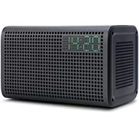 GGMM E3 Alexa Enabled Portable Bluetooth Speaker with LED Clock (Black)