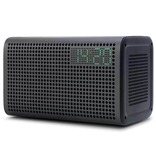 GGMM E3 Bluetooth WiFi Speaker Alexa Built-in Alexa Speaker, Multi Room Play Smart Speaker with LED Clock, Alarm Setting, USB Charging Port, Stereo Sound Airplay Speaker