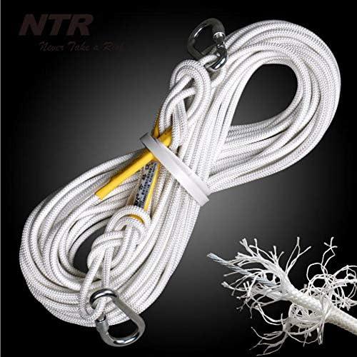 ロープ、家の火の補助ロープのパラシュートの静的な屋内ロープ、体操の登山ロープコードの安全ロープ8mm,White,50m