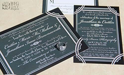 A Glamorous Gatsby Wedding Invitation Sample Set