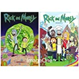 Rick and Morty : The Complete Series Season 1- 2 (4 disks DVD) 1, 2 La Divine