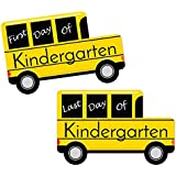 Kindergarten - FIRST and LAST Day of School Bus Signs - Back To School Photo Prop