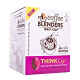 Coffee Blenders Functional Think Drip Cup 100% Arabica Coffee Infused with All Natural American Ginseng to Promote Cognitive Performance, Natural Energy, and Boost Immune System 10 count per box