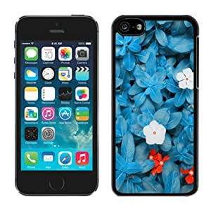 Personalised Beautiful Blue Flower Iphone 5c Case Balck Cover Coolest