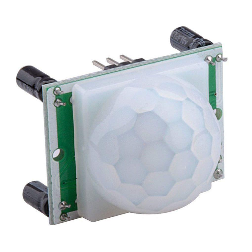 Luckiests Módulos 5PCS HC-SR501 Ajustable del Cuerpo Humano piroeléctricos sensores Movimiento Detector electrónico: Amazon.es: Hogar