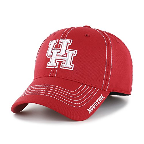 NCAA Houston Cougars Adult Start Line Ots Center Stretch Fit Hat, Large/X-Large, Red -