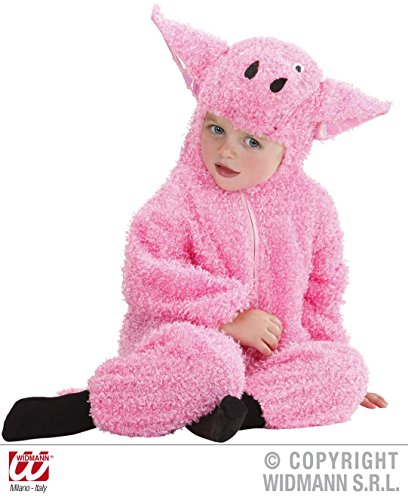 [Retail Zone Fuzzy Pig Piglet Baby Costume 0-6 Months Childrens Outfit] (Baby Piglet Costumes)