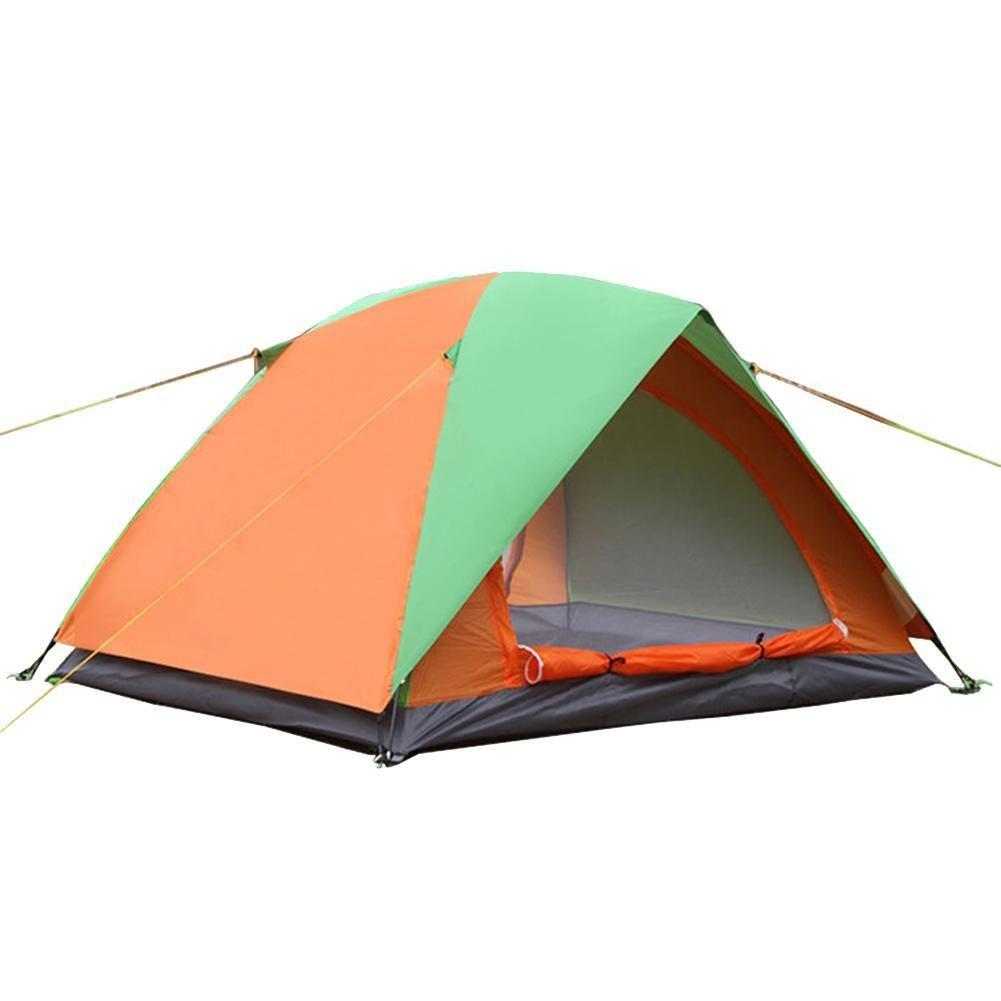 CloudWhisper Winddichtes Campingzelt für 2–3 Personen, wasserdicht, zweilagig, für den Außenbereich, Strand, Reisen, Wandern