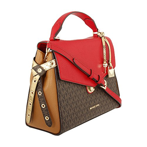 880ab92580ccd9 Michael Kors Bristol Ladies Medium Canvas & Leather Satchel Handbag  30H7GZKS6B