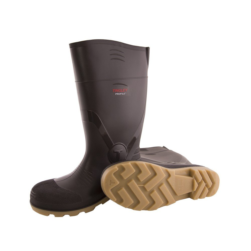 TINGLEY 51154.09 51154 SZ9 Footwear: Boots-Rubber Safety Toe, 9, Brown