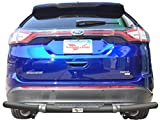 VANGUARD Off Road VGRBG-1292-1274BK For Ford Edge 2015-2019 Rear Bumper Guard Black Single Tube Style