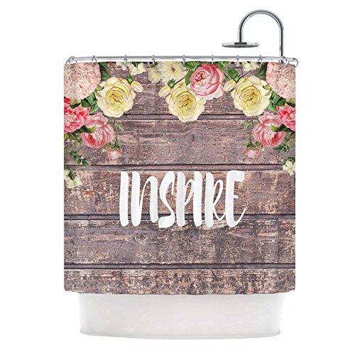 KESS InHouse Suzanne Carter Inspire Contemporary Typography Shower Curtain 69 By 70