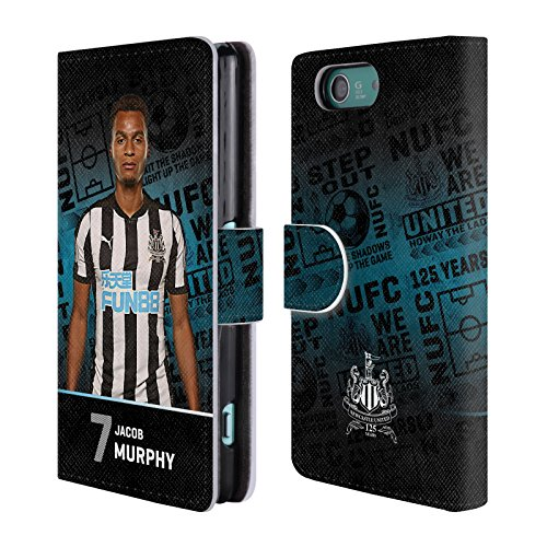 Murphy Compact Wallet (Official Newcastle United FC NUFC Jacob Murphy 2017/18 First Team 2 Leather Book Wallet Case Cover For Sony Xperia Z3 Compact / D5803)