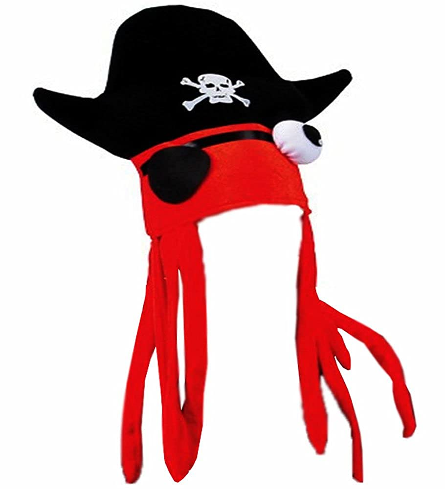 21729880 Amazon.com: Cool Pirate Squid Hat by Funny Party hats: Clothing
