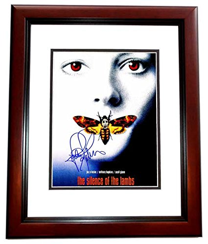 Jodie Foster Signed - Autographed Silence Of The Lambs 11x14 inch Photo - Mini Movie Poster - MAHOGANY CUSTOM FRAME