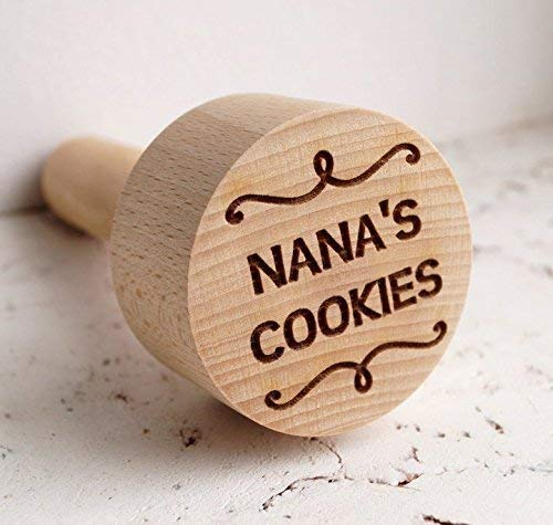 Personalized embossing cookie stamp, embossing rolling pin alternative, cookie decorating stamp, wooden kitchen stamp (Cost Of First Class Letter To Canada)