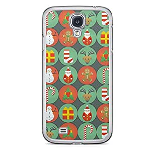 Christmas Icons Samsung Galaxy S4 Transparent Edge Case - Christmas Collection