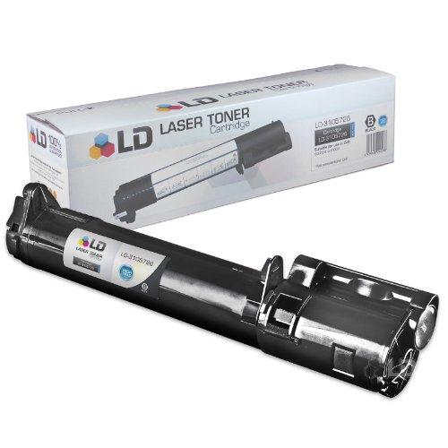 3100cn Printer (LD Compatible Toner to replace Dell 310-5726 (K5362) High Yield Black Toner Cartridge for your Dell 3000cn/3100cn Color Laser Printer)