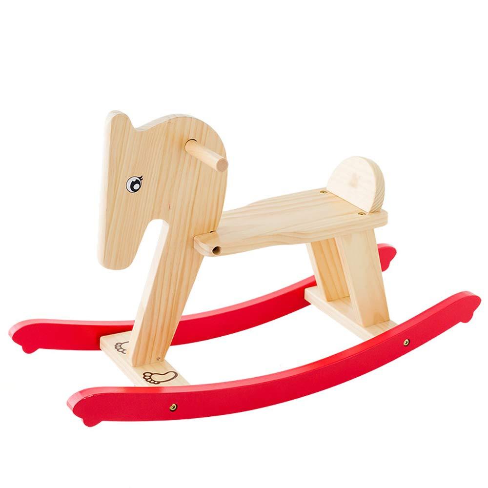 CL- Cavallo a Dondolo per Bambini in Legno massello bimodale 700X240X430mm