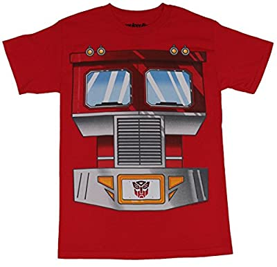 Transformers Mens T-Shirt - Optimus Prime Front Truck Grill Image