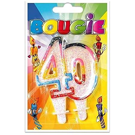 S R/BBA04-1 - Vela de cumpleaños (40 años): Amazon.es: Hogar